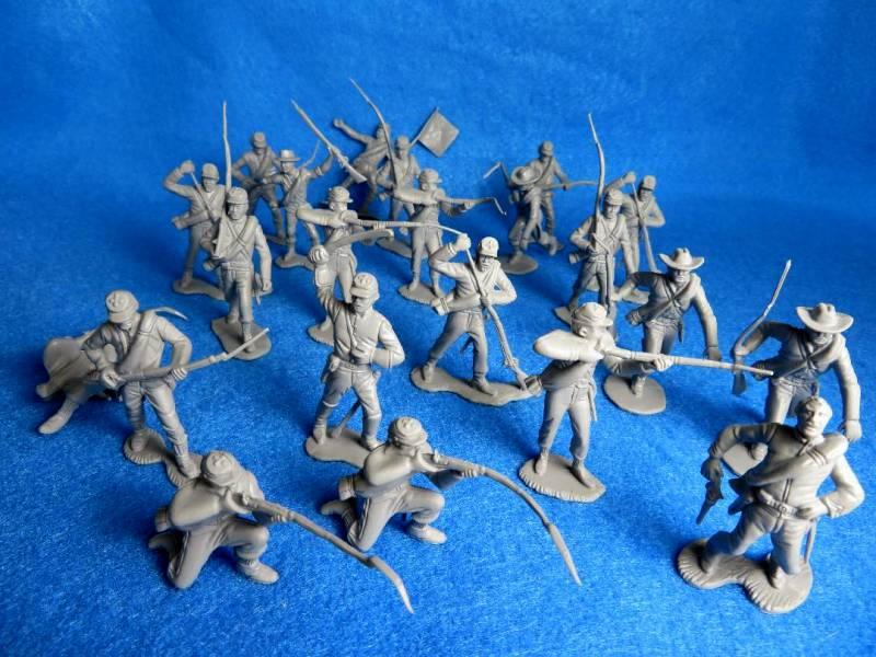 Marx Confederates 22 Figures in Gray Special Price