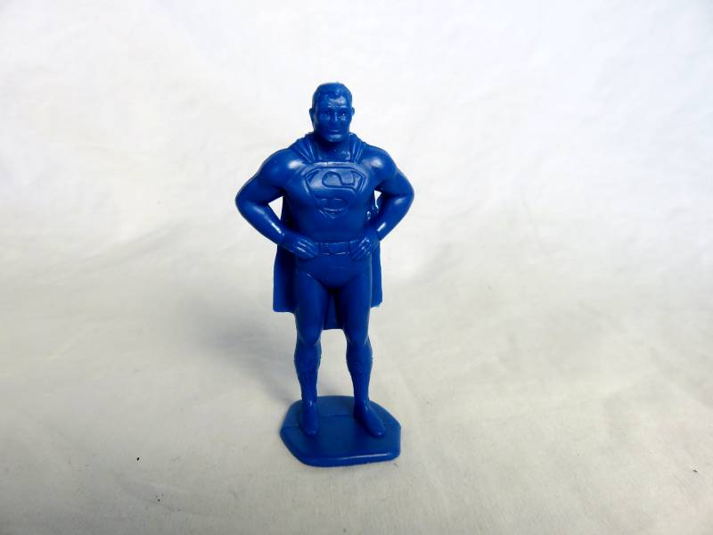 Marx Superman character figure in blue (60mm)