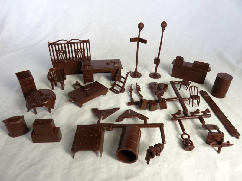 MARX Untouchable Accessory+ weapons set 34 pcs. 54mm  (Brown)