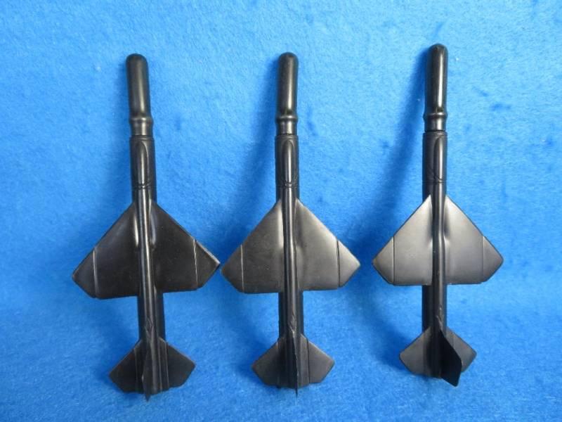 MXR791A Marx Bomarc rockets X 3, plastic
