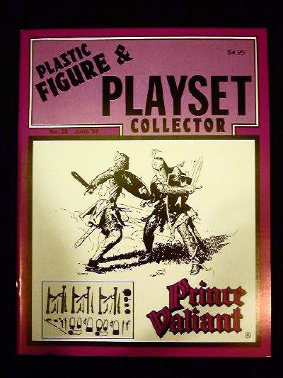 issue #25 ''MARX Prince Valiant & Castle playsets''