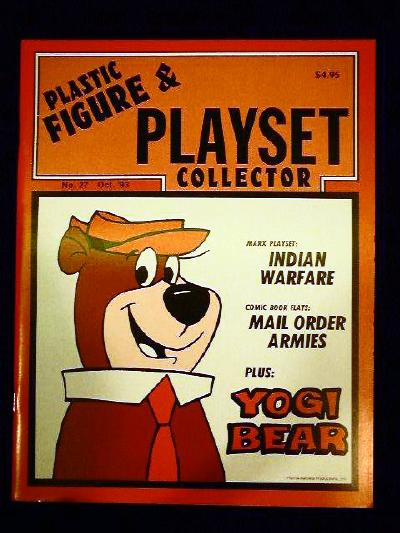 issue #27  ''MARX Yogi Bear & Indian Warfare playsets,Comic book armies+ TIMPO figures''