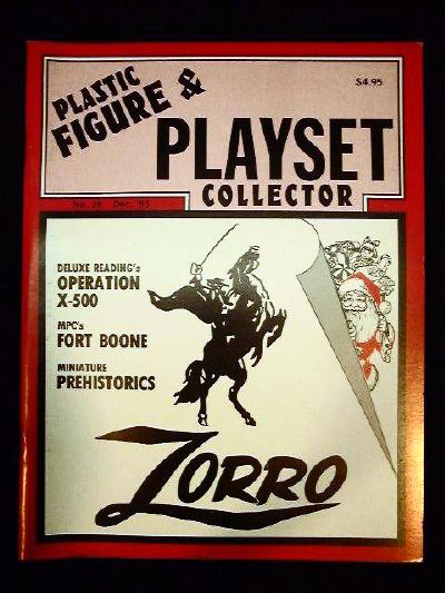issue #28 ''MARX Zorro, DELUX READING X-500 & MPC D.Boone playsets''