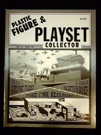 issue #41 ''REMCO Atomic Fleet, T. COHN Scotty's Diner playset and BARZO Mike Fink Keelboat playsets''