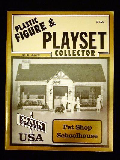 issue #43  ''MARX Petshop, School House & PX playsets ''