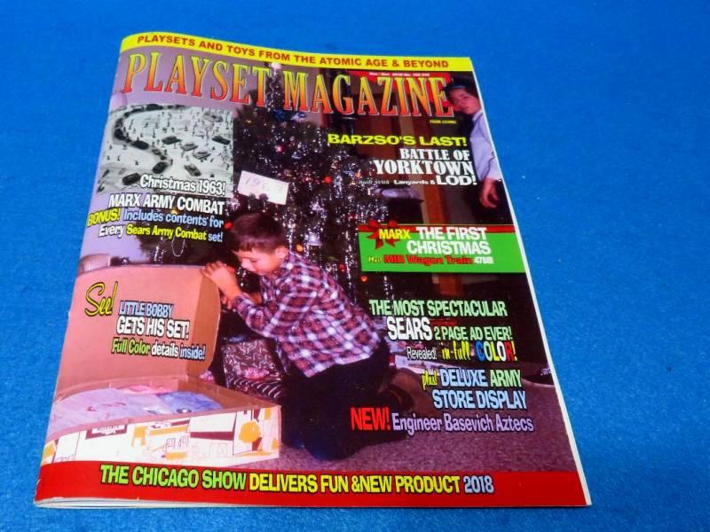 Playset Magazine #102, Marx wagon Train + Army Combat playsets++