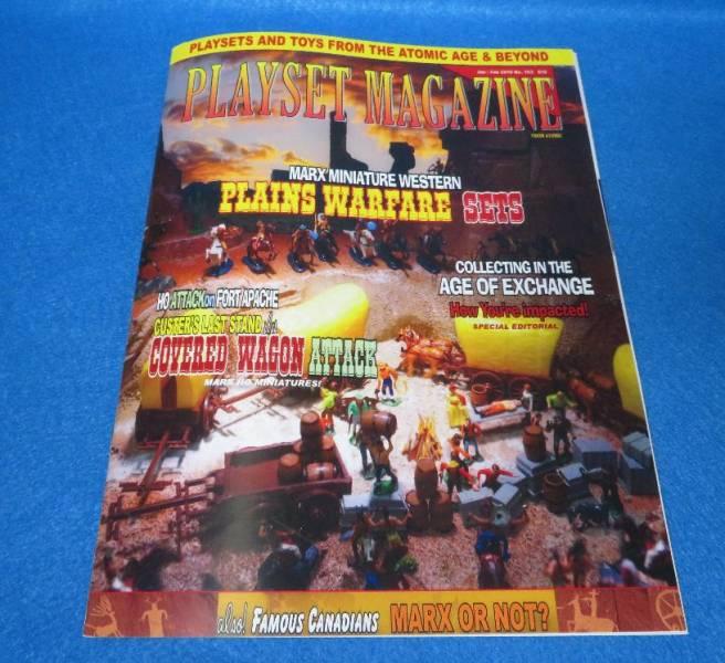 Playset Magazine #103 Marx miniature western playsets+ Famous Canadians