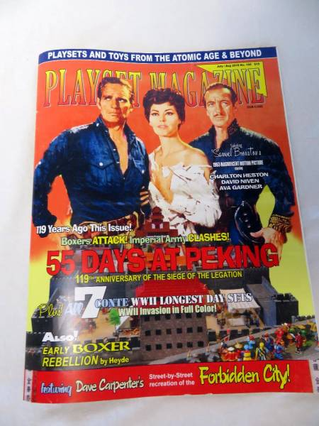 Playset Magazine #106 -55 days at Peking sets+ Conte WWII playsets