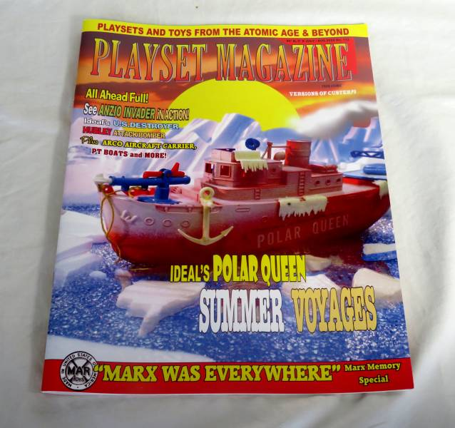 Playset Magazine #112 1950's/60's navy boats by Ideal,Arco,Hubley + more