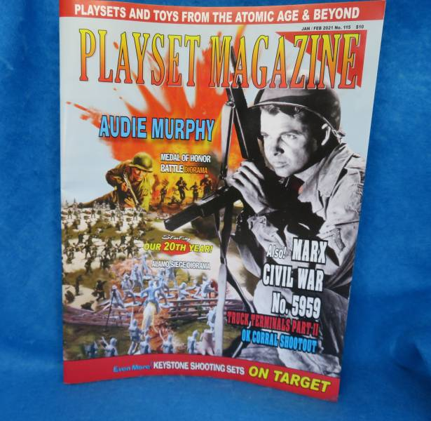 Playset Magazine #115 Marx civil war, keystone western sets