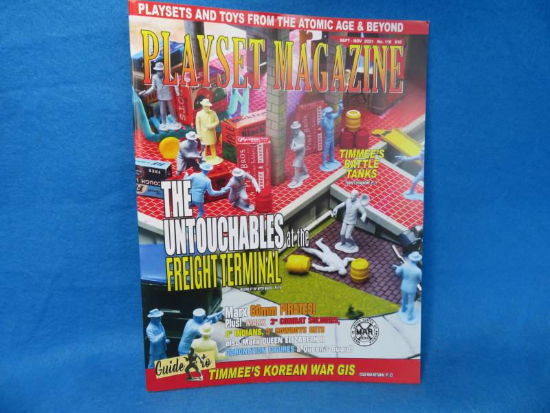 PLAYSET MAGAZINE #118 Marx Untouchables, 60mm  Captain Kidd-          Pirates, Tim Mee Army ++