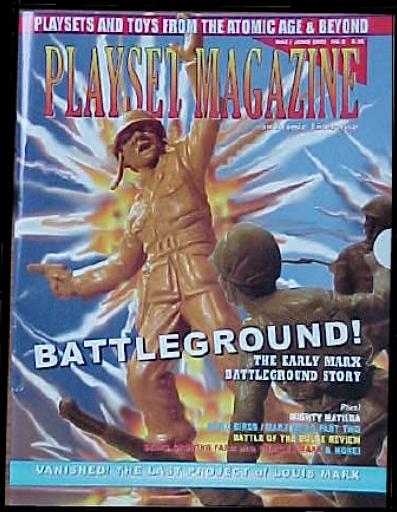 Playset Magazine issue #9 ''Marx Battleground playset, Marx Sears Growing Farm playset and  CTS's Battle Bulge playset''