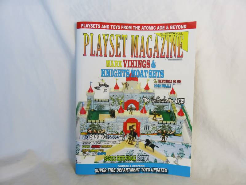Playset Magazine #93, Marx Vikings&Knights castle playsets + more