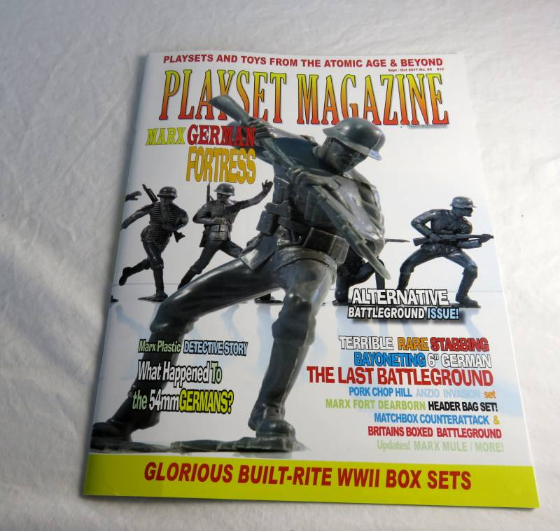 Playset Magazine #95 Marx rare German fortress+Mego and Phoenix,Britains, Matchbox + +