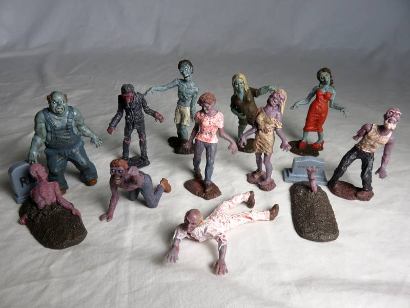 ZOMBIES by Safari, 12 different, about 3