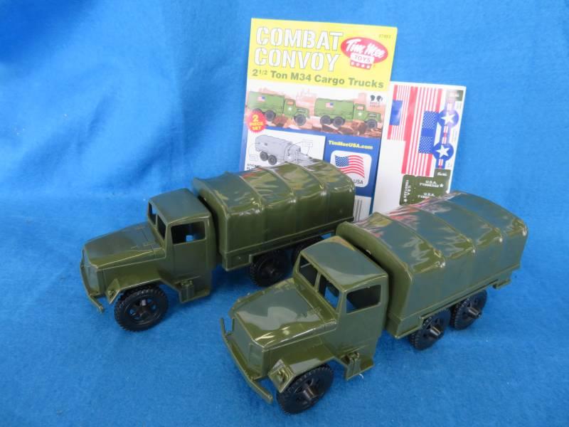 Tim Mee M34 Deuce and a half cargo trucks, 1/32, 2 trucks