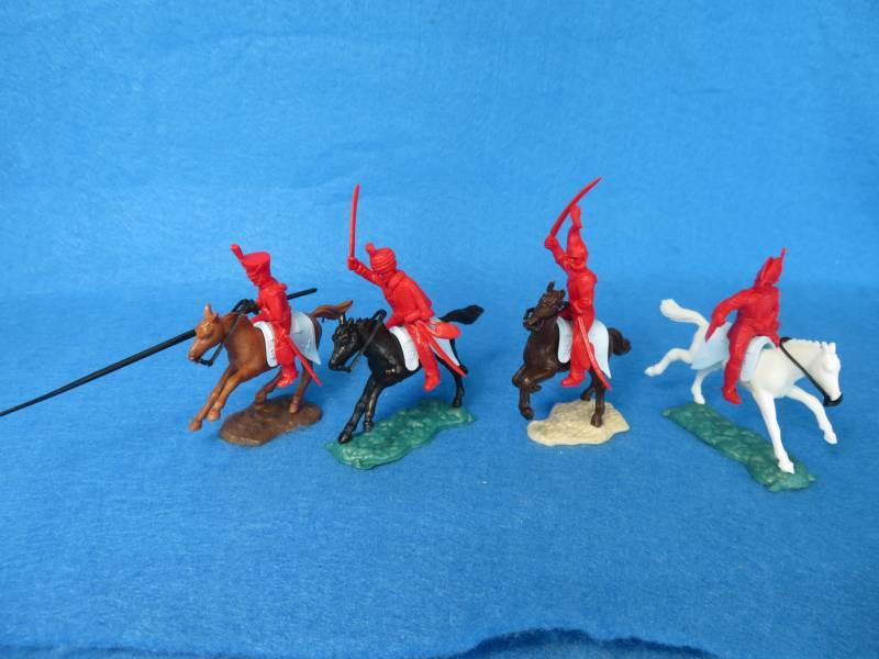 Timpo Napoleonic British cavalry all 4 poses, Wellington, + horses, 54mm