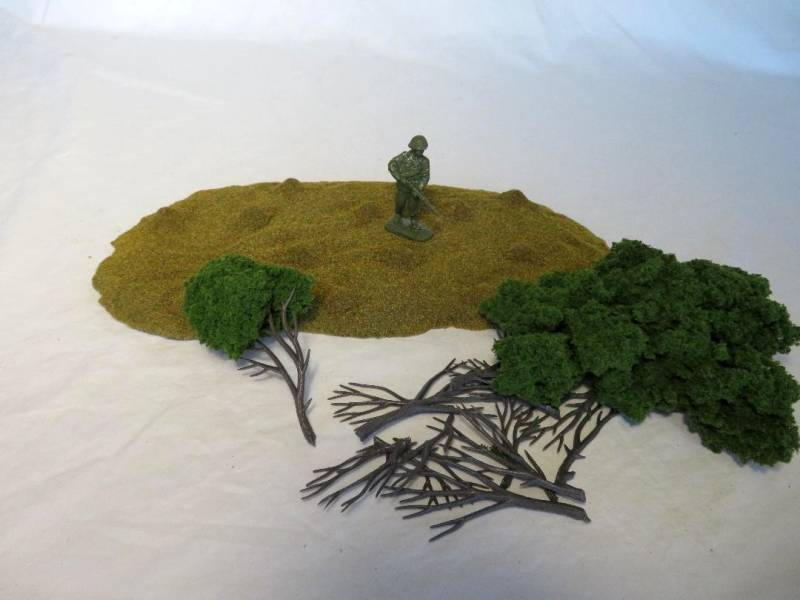 Terrain set #1 -hard foam forest with base  for all scales
