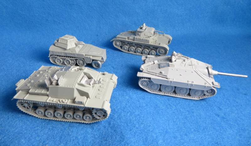 War-gaming 1/48th WWII German Tanks, resin + metal