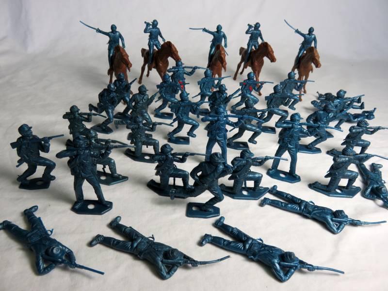 MPC original U.S. 7th cavalry/Civil War Union50mm, 40 figures-all 7 poses