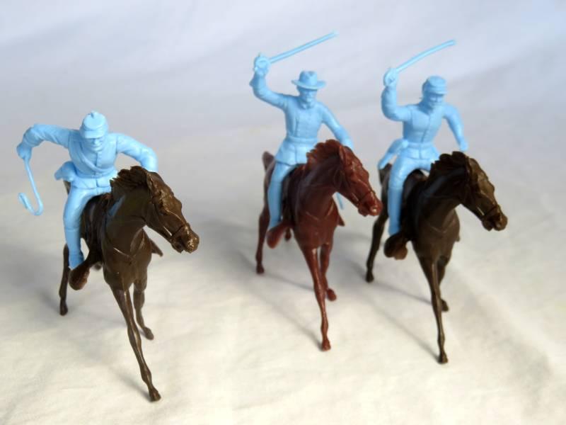 Marx original Heritage civil war mounted Union + horses, 54mm