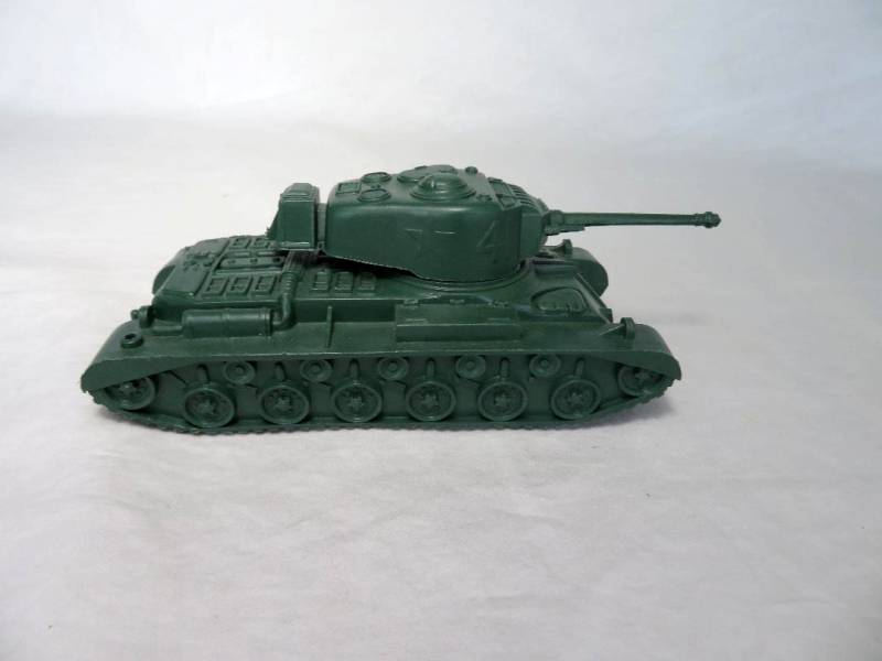Marx original WWII US army tank (dark green) playset