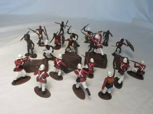 Zulu War Marx + Call to Arms painted plastic