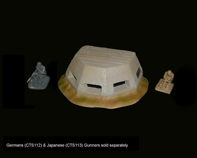 WWII Concrete OP and Pill Box (6''Lx4.5 ''Wx2''H) (painted) <FONT COLOR=#CC0000>(54mm) </FONT>