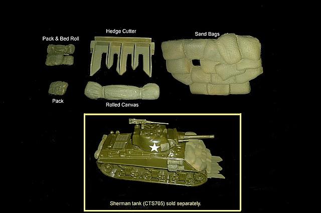 CTS Sherman Tank Accessories set #1<FONT COLOR=#CC0000>(54mm) </FONT>