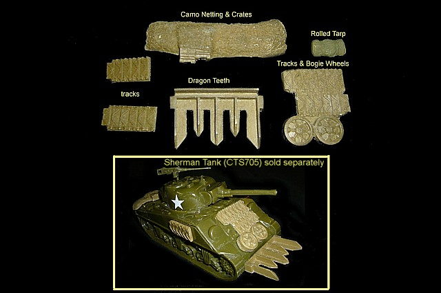 CTS Sherman Tank Accessories set #2<FONT COLOR=#CC0000>(54mm) </FONT>