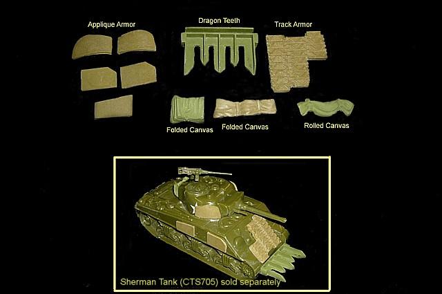 CTS Sherman Tank Accessories set #3<FONT COLOR=#CC0000>(54mm) </FONT>
