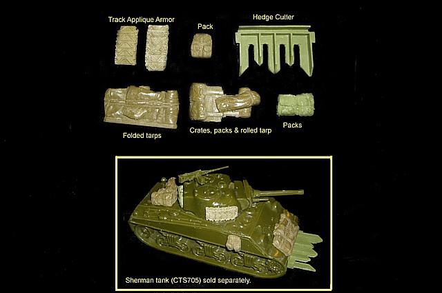 CTS Sherman Tank Accessories set #4<FONT COLOR=#CC0000>(54mm) </FONT>